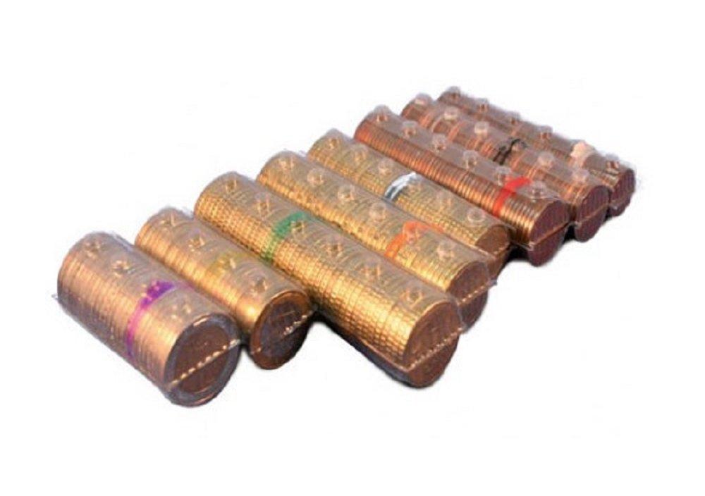 Blister per monete euro - Kit 160 blister portamonete tagli assortiti (20 pezzi per taglio euro) Iternet