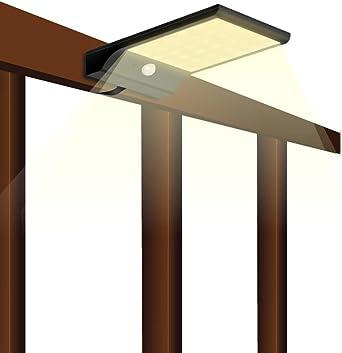Luces Solares Exterior 49 LED, Luz Solar Jardín 2200mAh, Lámparas con Sensor de Movimiento, Focos Solares Impermeable IP65 para Patio, Camino, Escalera: Amazon.es: Iluminación