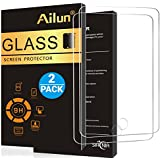 iPad 9.7 Screen Protector 9.7inch 2017/2018 model [2Pack]by Ailun,Tempered Glass for New iPad,9H Hardness,[Apple Pencil Compatible]Ultra Clear,Anti-Scratch,Case Friendly-Siania Retail Package