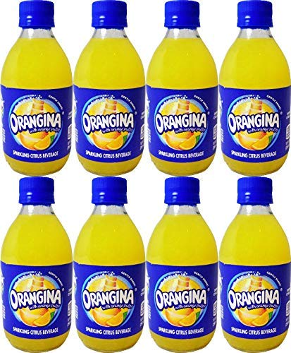 Orangina Sparkling Citrus Beverage with Pulp,10 Fl Oz Glass Bottle (16 Bottles) by Orangina