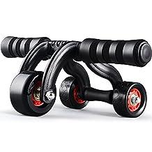 3-Wheel Triangular Ab Roller Fitness Equipment Heavy Duty Abdominal Carver Abs Trainer Outdoor Indoor Workout Machine