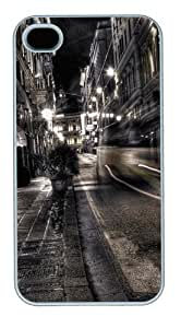 Gray City Night PC case Cover for iPhone 4 and iPhone 4s ?¡ìC White