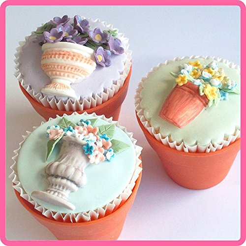 Anyana Wedding Vintage Fondant Silicone Mold Cake Decorating Pot Urn Chocolate Soap Wilton Mould