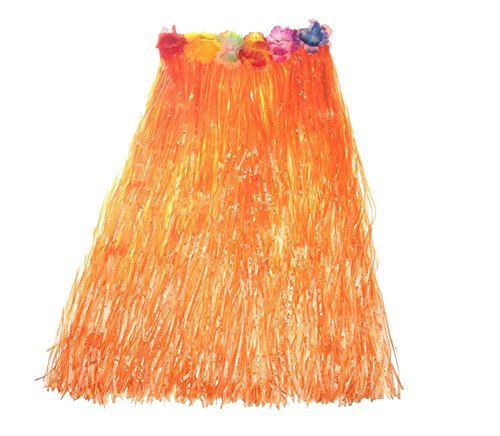 O'Keer Grass Skirt Hawaiian Costume - OKEER Magic Buckle Plastic Skirt Used In The Party Table Decorating Homemade -