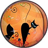 Black Cat Looking Backward- Crystal Dome Buttons - Best Reviews Guide