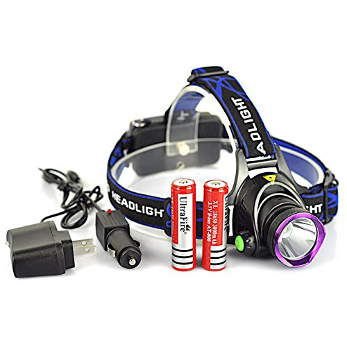 5000LM XM-L T6 LED Rechargeable Headlight Head Lamp + 2Pcs 18650 + Charger US --P#EWT43 65234R3FA152951