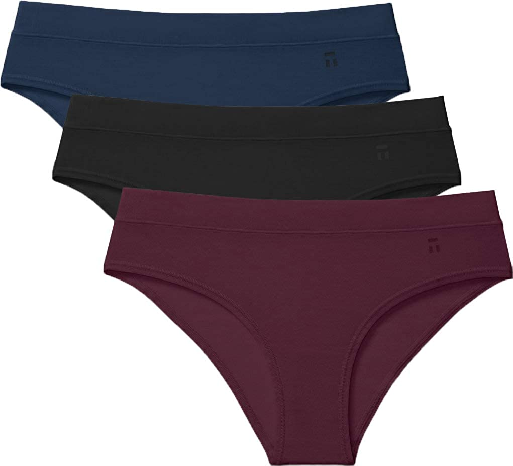 Tommy John Women's Second Skin Cheeky Panties - 3 Pack - Comfortable Breathable Underwear for Women
