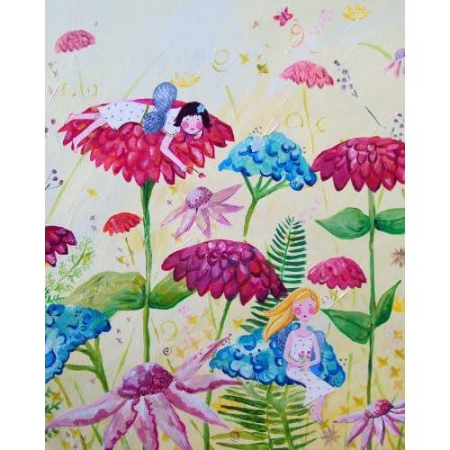 Cici Art Factory Fairy Garden Wall Decor, Blue