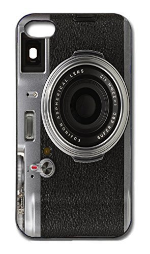Fujifilm Fitted Case - Rutland Merchandise Case Vintage Camera Funny Hard Case Cover Comedy Photography iPhone 5/5s Black