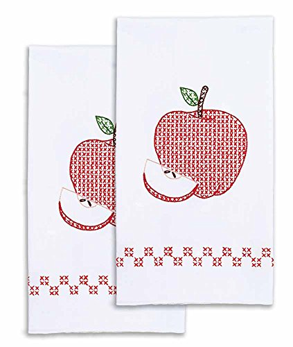 Jack Dempsey Needle Art 320522 Decorative Apples Hand Towels