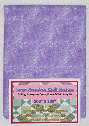 (Quilt Backing, Large, Seamless, C47603-401, Light Purple)