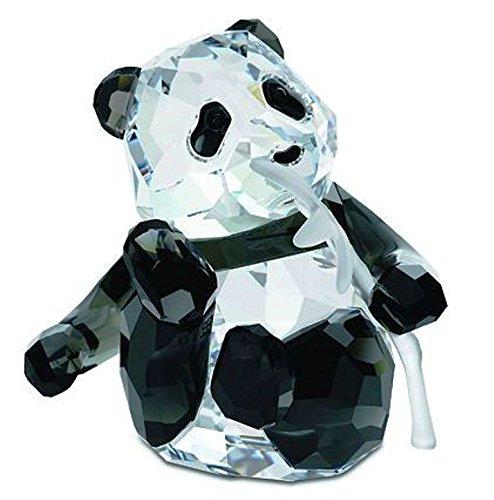 (Swarovski Crystal Collectible SCS 2008 Panda Bear Cub Holding Bamboo Figurine / Sculptor / Statue)