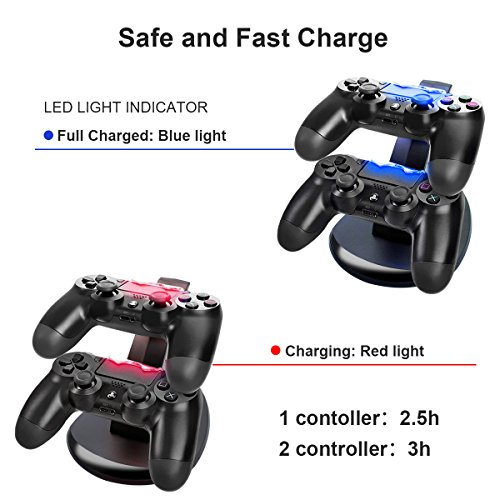 Ps4 Controller Charger Charging Station U Toe Dual Usb