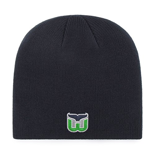 NHL Hartford Whalers OTS Beanie Knit Cap, Navy, One Size ()