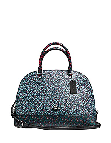 COACH SIERRA SATCHEL IN RANCH FLORAL PRINT MIX COATED CANVAS ( SILVER/MULTI Floral Print Satchel