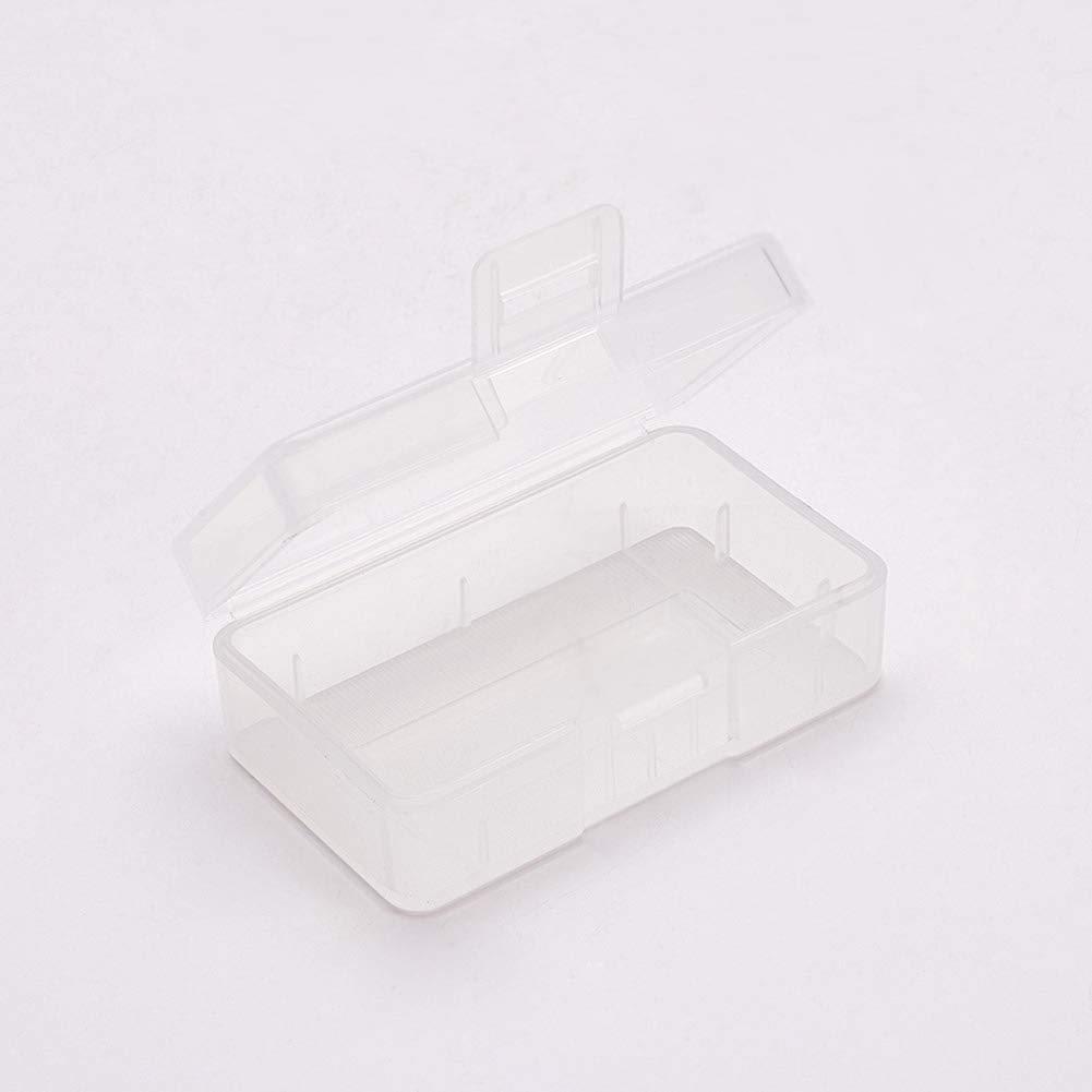 Fielect 5Pcs Multipurpose Battery Storage Box Organizer Battery Storage Holder Case Transparent for 18350 Battery