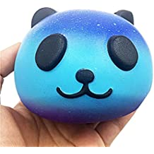 Toy Gift, Auwer 10CM Panda Cream Scented Squishy Slow Rising Squeeze Kid Toy Phone Charm Gift (Blue)
