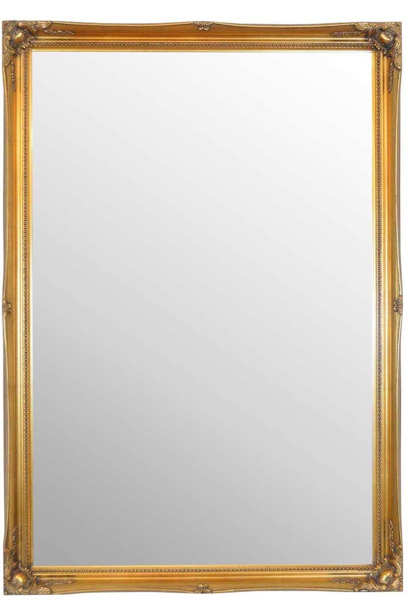 MirrorOutlet 3 FT4 X 2 FT4 102 cm x 72 cm groß Gold antik Stil Kunstvolles Wandspiegel Big Bargain