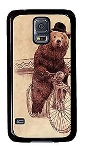 Diy Fashion Case for Samsung Galaxy S5,Black Plastic Case Shell for Samsung Galaxy S5 i9600 with Barnabus