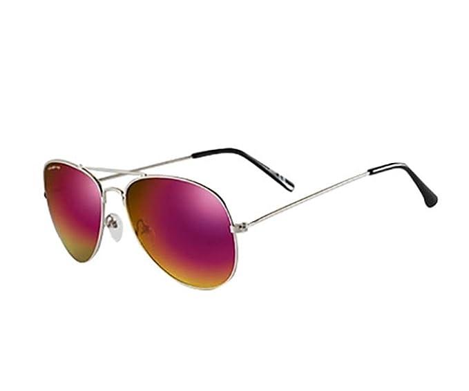 California Style Co. Aviator Espejo Gafas de Sol, Rosa, 135 ...