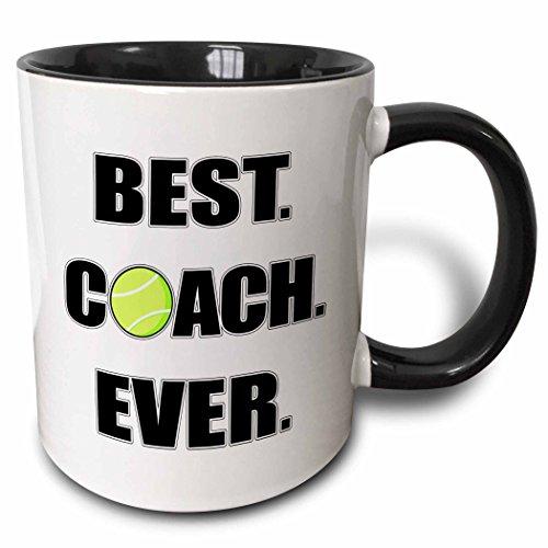 3dRose mug 195232 4 Tennis Coach Black