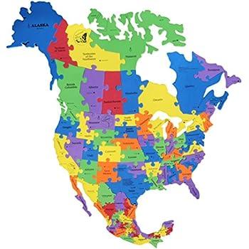Super Sized North America Foam Map Puzzle 38