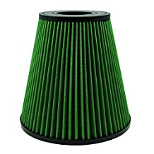 Green Filters 7207 Air Filter; Dual Cone; 4in. ID; 7.8in. Length;