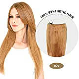 COCO Secret Extensions Strawberry Blonde Hair Synthetic Hair Extensions Straight 20 Inches by COCO