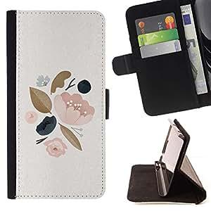 For Sony Xperia Z5 (5.2 Inch) / Xperia Z5 Dual (Not for Z5 Premium 5.5 Inch) Case , Hojas del árbol de la primavera Apple Blossom Peach- la tarjeta de Crédito Slots PU Funda de cuero Monedero caso cubierta de piel