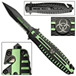 Quarantine Zombie Killer Folding Tactical Pocket Knife