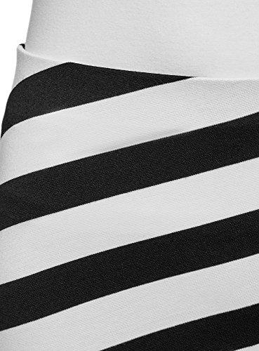 Jupe Ultra Blanc oodji Mini 1029s Maille Femme wzEzqv