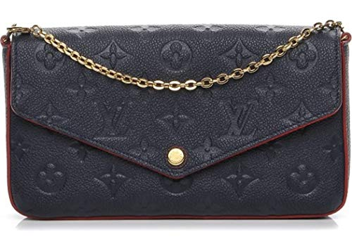 New!! POCHETTE FELICIE Style Genuine Leather Women Bag On promotion 8.27 x 4.72 x 1.18 inches