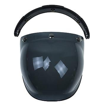 Aubess Casco de Motocicleta con Tapa, Máscara de Sol, Marrón Oscuro, 22*