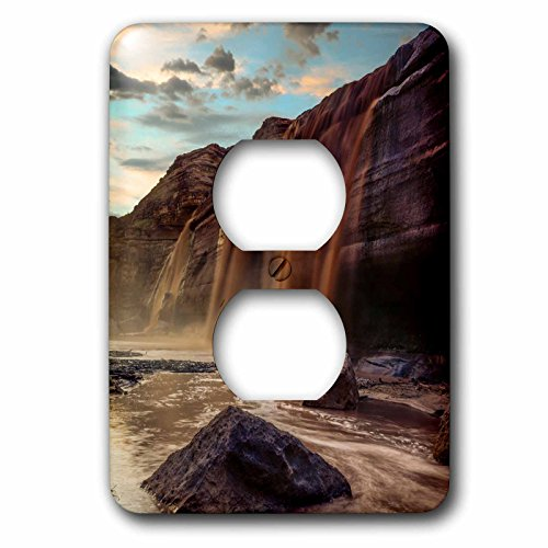 3dRose Danita Delimont - Waterfalls - Little Colorado River in Arizona after a storm - Light Switch Covers - 2 plug outlet cover - Flagstaff Outlet