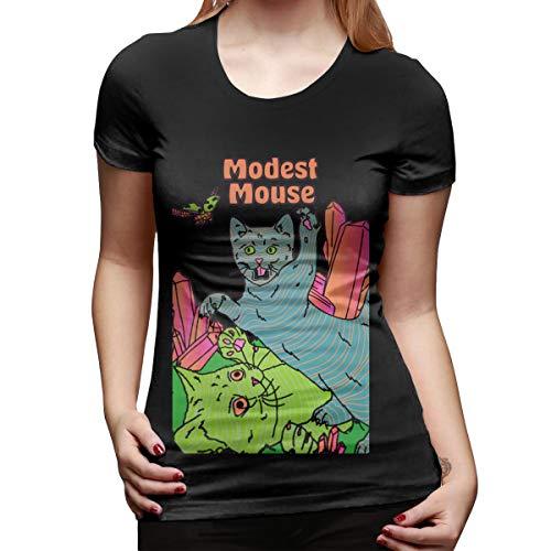 Modest Mouse T-shirt - JDDZ Modest Mouse Women'sTravel Summer T-Shirts Black