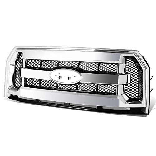 - For Ford F150 Chrome OE Style Mesh Front Upper Bumper Grille