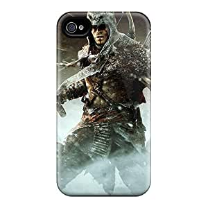 Hot Tpu Cover Case For Iphone/ 4/4s Case Cover Skin - Assassins Creed Iii Tyranny Of King Washington