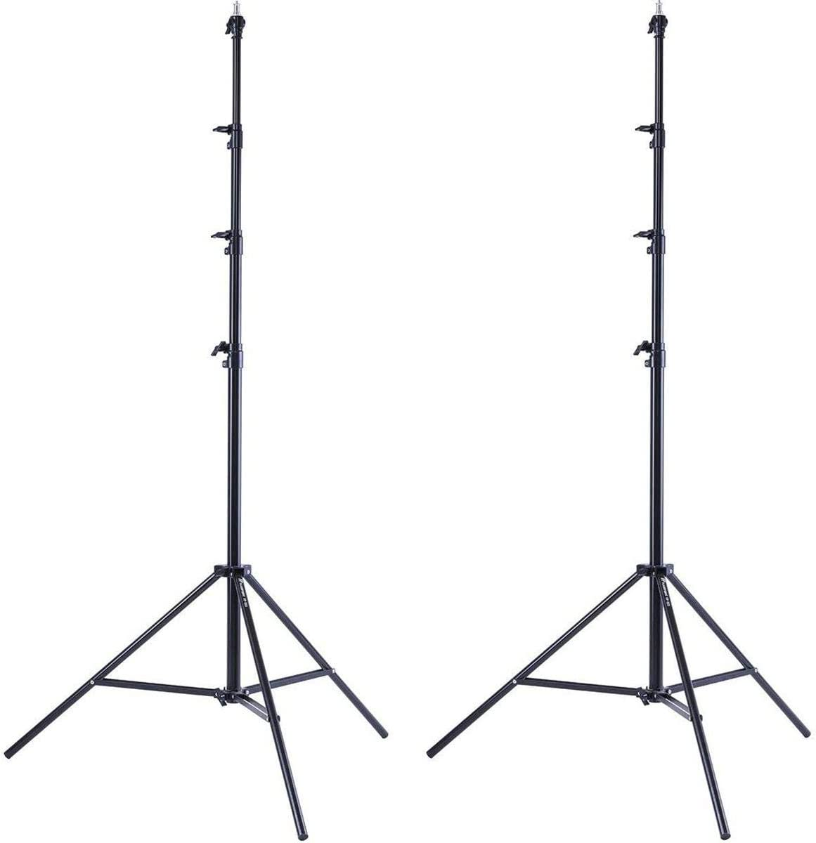 Flashpoint 2X Pro Air-Cushioned Heavy-Duty Light Stand Black, 13
