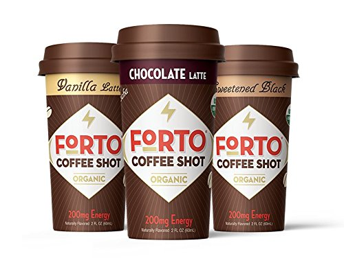 - FORTO Coffee Shots - 200mg Caffeine, Variety Pack, High Caffeine Cold Brew Coffee, Bottled Fast Coffee Energy Boost, 6 Pack