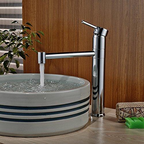 Rozin® Contemporary Swivel Spout Basin Faucet Single Handle Sink ...