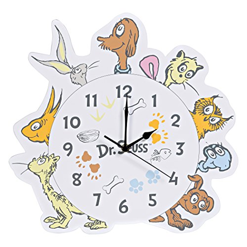 Trend Lab Dr. Seuss Wall Clock, Multi, What Pet Should I Get?