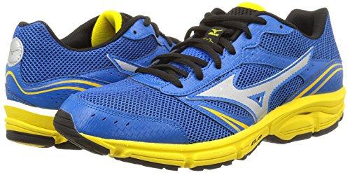 Mizuno Hardloopschoen Sneaker Man Wave Impetus 3 Lichtblauw Geel
