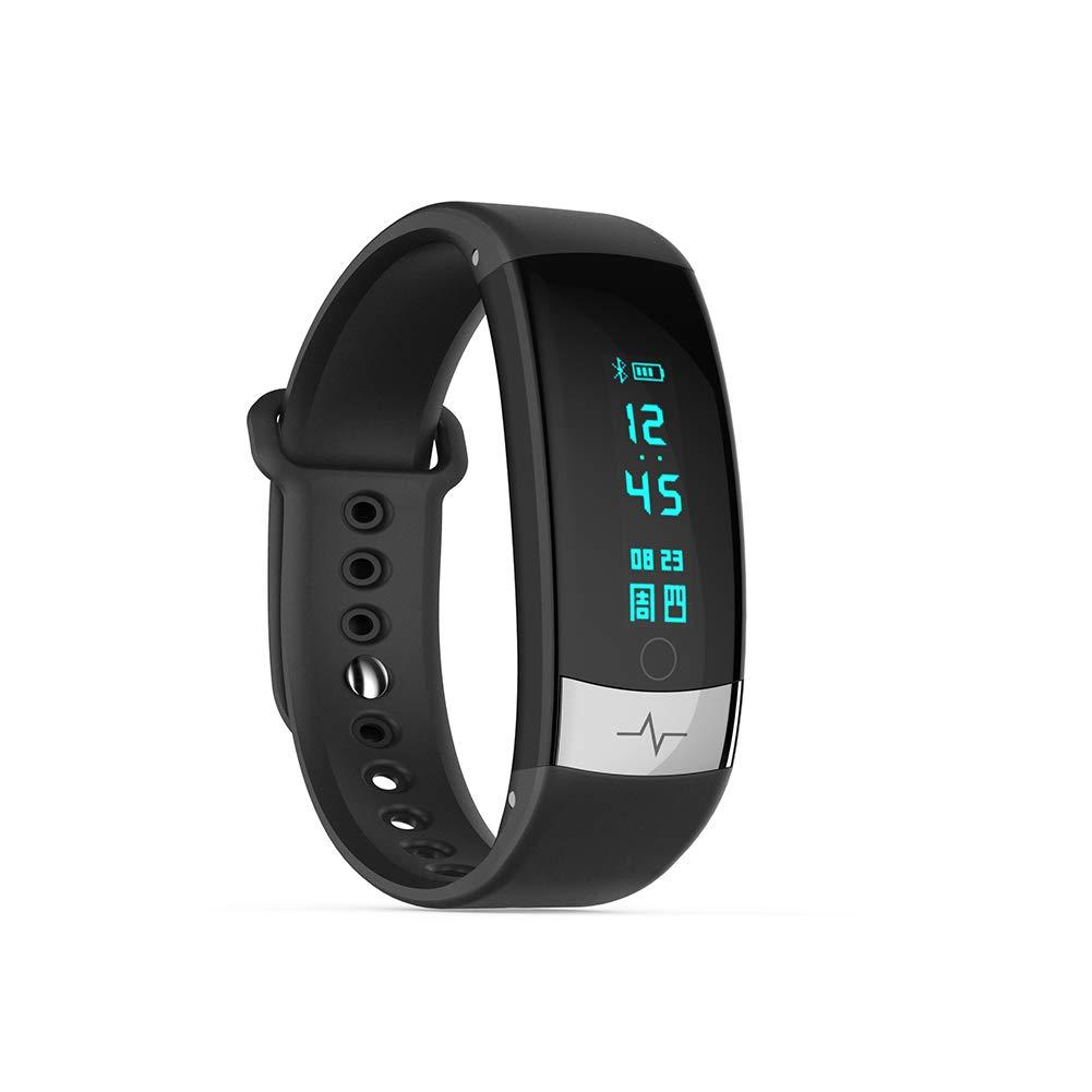 Black ECG PPG RealTime Monitoring Blood Pressure Heart Rate Smart Fitness Bracelet Sport Pedometer Intelligent Activity Tracker Myhao