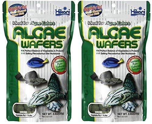 Marine Herbivore Food - Hikari Usa Inc AHK21328 tropical Algae Wafer 8.8-Ounce [2-pk]