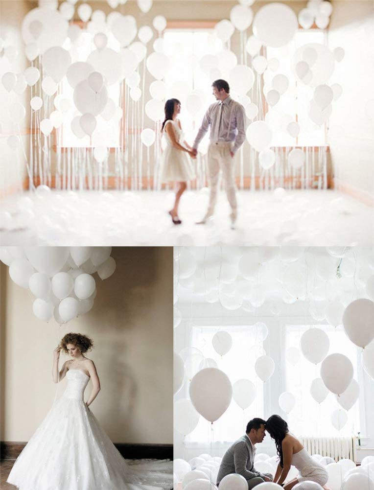 JYOHEY 50 St/ück Helium Luftballons Wei/ß Hochzeit Deko