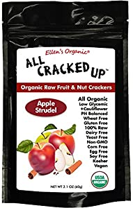 All Cracked Up Organic Raw Fruit & Nut Crackers Superfood Snacks (Apple Strudel)