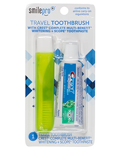 10 Percent Toothpaste (Dental Source Travel Toothbrush and Crest Toothpaste Kit, 2-pack)