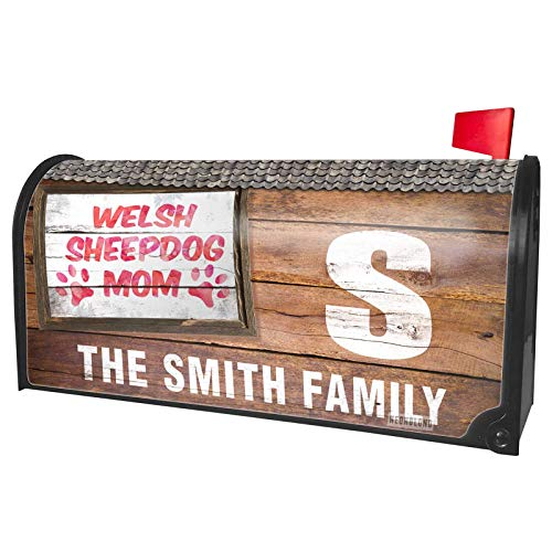 (NEONBLOND Custom Mailbox Cover Dog & Cat Mom Welsh Sheepdog)