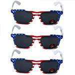 USA Merchant | Sunglasses for Men, Women & Kids by Ray Solée- 3 Pack of Tinted Lenses with UVA & UVB Protection 7 3 PIECE PACK - This bulk pack of inexpensive shades comes with 3 American flag themed glasses great for summer time and parties all year round. UVA&UVB - Ray Solée glasses are ultraviolet tinted with anti-reflective UV 400 protection from the sun. MONEY BACK GUARANTEE- We are so sure that you will love our product that it comes with a 30 day Risk-Free 100% money-back-guarantee. If you are not fully satisfied with our product, let us know and receive a full refund.