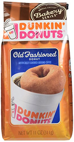 Dunkin Donuts Ground Coffee, Old Fashioned Donut flavored, 11 oz - Old Fashioned Coffee Cake